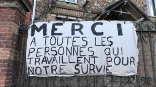 France - coronavirus - remerciement