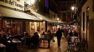 Bares do centro de Madri, na Espanha.
