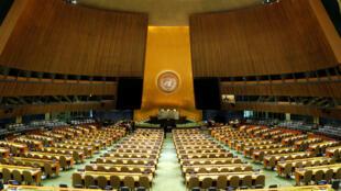 Phòng họp Đại Hội Đồng Liên Hiệp Quốc trong trụ sở tại New York, Hoa Kỳ. (Ảnh chụp 9/2017)