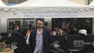 João Matos da produtora portuguesa Terratreme na Semana da crítica do Festival de cinema de Cannes