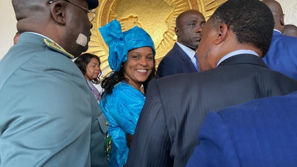 Suzi Barbosa, chefe da delegação da Guiné-Bissau, acolhida na Cimeira da União Africana a 9 de Fevereiro de 2020 em Addis Abeba.
