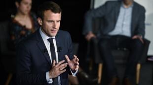 Emmanuel Macron on a French TV programme
