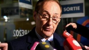 Le patron des sports de glace français Didier Gailhaguet, lors d'un point presse à l'issue de son entretien au ministère des Sports à paris, le 3 février 2020