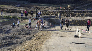 Protest at site of dam in Sivens, Sunday, 26 October
