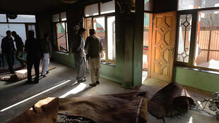 阿富汗恐袭爆炸现场。