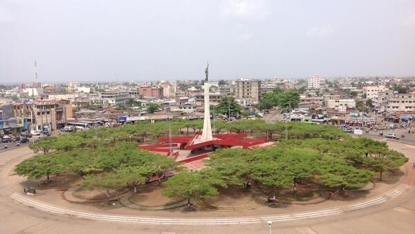 Centre-ville de Cotonou, au Bénin.