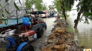 Floods in Myanmar last August