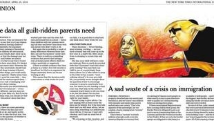 "کاریکاتور ""توهینآمیز"" نیویورک تایمز روز پنجشنبه ٢۵ آوریل منتشر شد"