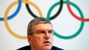 Chủ tịch Ủy Ban thế Vận Quốc Tế Thomas Bach trong một cuộc họp báo về doping, tại Lausanne, Thụy Sĩ, ngày 21/06/2016.