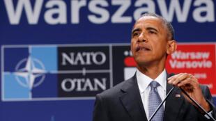 Tổng thống Mỹ Barack Obama trong cuộc họp báo sau thượng đỉnh NATO, Vacxava, Ba Lan, 09/07/2016