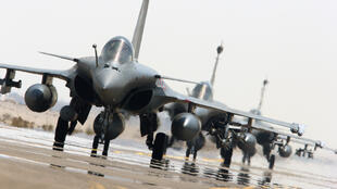 A photo of the Rafale warplane, released by the French defence ministry at the start of its military intervention in Syria last September
