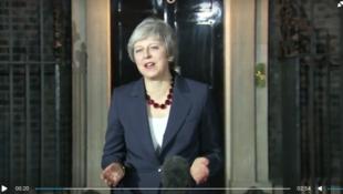 英國首相特蕾莎梅2018年11月14日倫敦