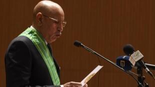 Le président mauritanien, Mohamed Ould Ghazouani, lors de sa prestation de serment, le 1er août 2019 à Nouakchott.