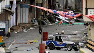 Một góc phố ở Marawi, miền nam Philippines sau xung đột giữa quân đội và chiến binh Hồi giáo Maute. Ảnh ngày 29/05/2017.