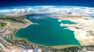 تصویر ماهواره ای دریای خزر