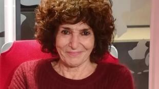 Geneviève Brisac en studio à RFI (décembre 2019).