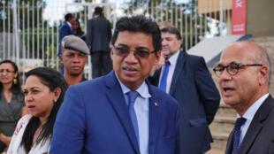 Henry Rabary-Njaka, chef de la diplomatie de Madagascar (mars 2018).