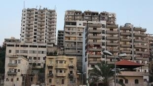 Appartment blocks in Tripoli, Lebanon, where the influx of refugees has pushed up housing costs