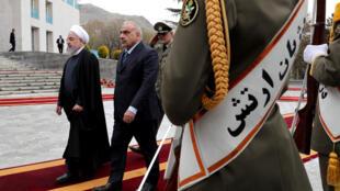Le président iranien Hassan Rohani (g.) et le Premier ministre irakien Adel Abdel Mehdi à Téhéran, le 6 avril 2019.