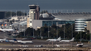 The International Airport of Nice.