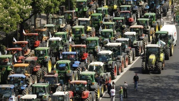 Manifestação dos agricultores em Paris.