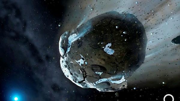 A descoberta de um asteróide rico em água reforça a hipótese de uma vida extraterrestre.