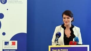 French Junior Minister for Gender Equality Marlène Schiappa presents a manifesto against impunity for sexual crimes, on 20 October, 2017