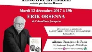Fondation Alliance Française - Erik Orsenna