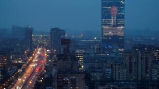 Послание Владимира Путина Федеральному собранию. Фасад здания в Санкт-Петербурге, 15 января 2020