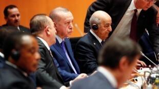 Le président turc Recep Tayyip Erdogan au sommet de Berlin sur la Libye, le 19 janvier 2020.
