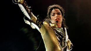 Michael Jackson em um show em Viena, na Áustria, em 1997.