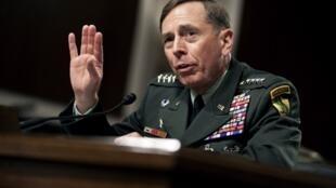 General David Petraeus at the Senate hearing Wednesday