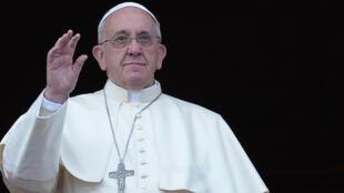 Le pape François, à la Basilique Saint-Pierre de Rome.