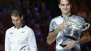Rafael Nadal (left) has been advised to rest following his run to the Australian Open final where he lost to Roger Federer.