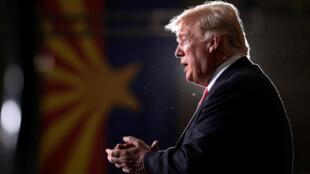 O presidente americano Donald Trump durante um encontro com eleitores no Arizona em 20/10/2018.