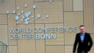 El centro internacional de la conferencia de Bonn, Alemania, en donde se desarrolla, hasta el viernes, la última negociación preparatoria de la COP21.