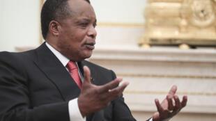 File photo of Republic of Congo President Denis Sassou Nguesso