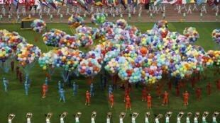 Festa de encerramento do Mundial de Atletismo de Pequim, em 30 de agosto de 2015.