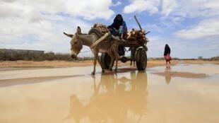 A Somali refugee woman in Dadaab near the Kenya-Somalia border 19 October, 2011