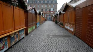 Khu chợ Noël ở Strasbourg đóng cửa ngày 12/12/2018 sau vụ khủng bố tối 11/12.