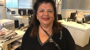 A empresária Luiza Trajano na redação brasileira da RFI, em Paris, em 15 de novembro de 2018.