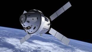 Version 2013 du vaisseau spatial Orion, un projet lancé sous George Bush en 2004, abandonné dans sa forme initiale par l'administration Obama pour cause de côut, le projet est maintenant développé en partenariat avec l'Agence spatiale européenne.