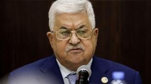 Le président de l'Autorité palestinienne, Mahmoud Abbas, lors d'une réunion à Ramallah le 3 octobre 2019