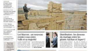 """""""Como os jihadistas destroem os tesouros do Iraque e da Síria"""", é a manchete de capa do jornal Le Figaro nesta sexta-feira (15)."""