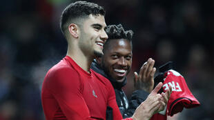 Andreas Pereira (Manchester United) à la fin du match contre AZ Alkmaar, le 12 décembre 2019.