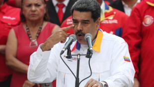 Le président Maduro lors d'un discours à Caracas, le 20 mars 2019.