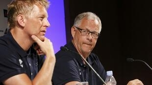 Heimir Hallgrimsson (left) and Lars Lagerback have guided Iceland to the quarter-finals of Euro 2016.