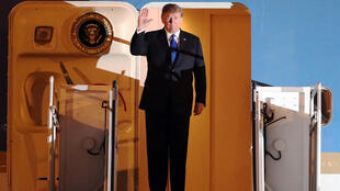 Президент США Дональд Трамп в аэропорту Ханоя, 26 февраля 2019