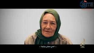 Extrait d'une vidéo de Sophie Pétronin, otage au Mali, le 2 juillet 2017. © AFP