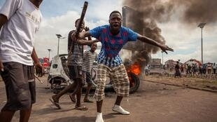Des opposants lors de la manifestation à Kinshasa, le 19 septembre 2016.